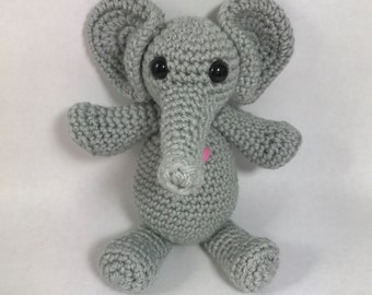 Crochet Elephant (Amigurumi, Baby Shower, Gift, Handmade, Stuffed Animal, Toy)