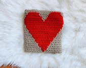 Crochet Pattern Heart Blanket PDF Instant Download