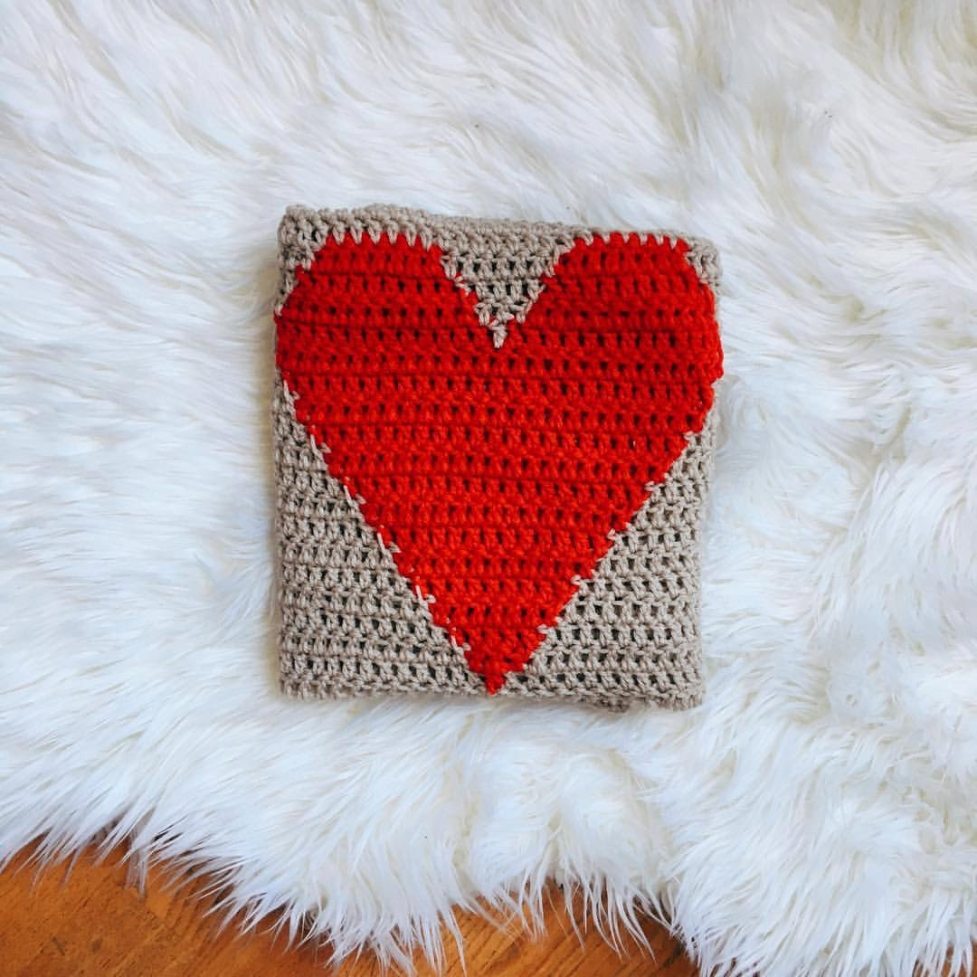 Crochet pattern heart blanket pdf instant download zoom bankloansurffo Images