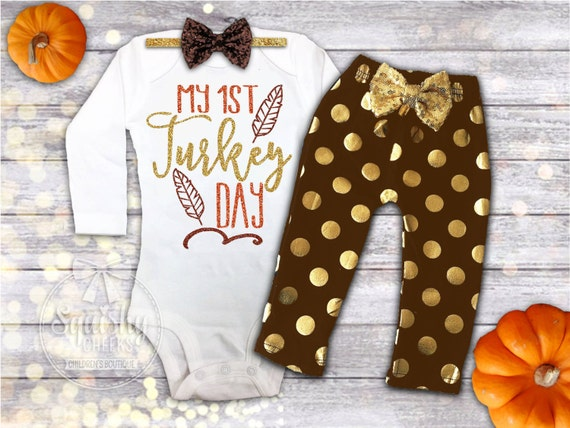 1st Thanksgiving Outfit Girl 1st By Babysquishycheeks On Etsy