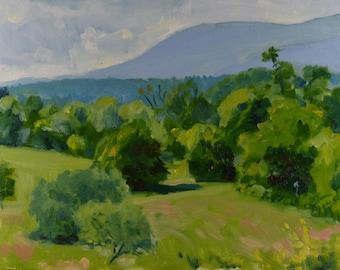 Original Oil Painting, Vermont Landscape, Summer Landscape, Mountains, by Robert Lafond