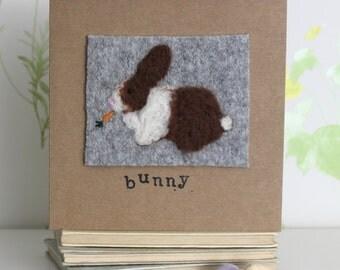 Bunny Card - easter bunny card, easter card, easter bunny, rabbit card, handmade card, happy easter card, greeting card, handmade easter