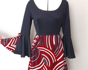 1970s Psychedelic Mini Dress