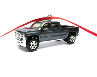 2014 2015 2016 Chevy Chevrolet Silverado Pickup Truck Car Christmas Tree Ornament