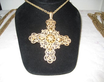 Vintage Crown Trifari Cross