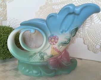 Hull pottery cornucopia vase, 'wildflower' pattern, 1940's