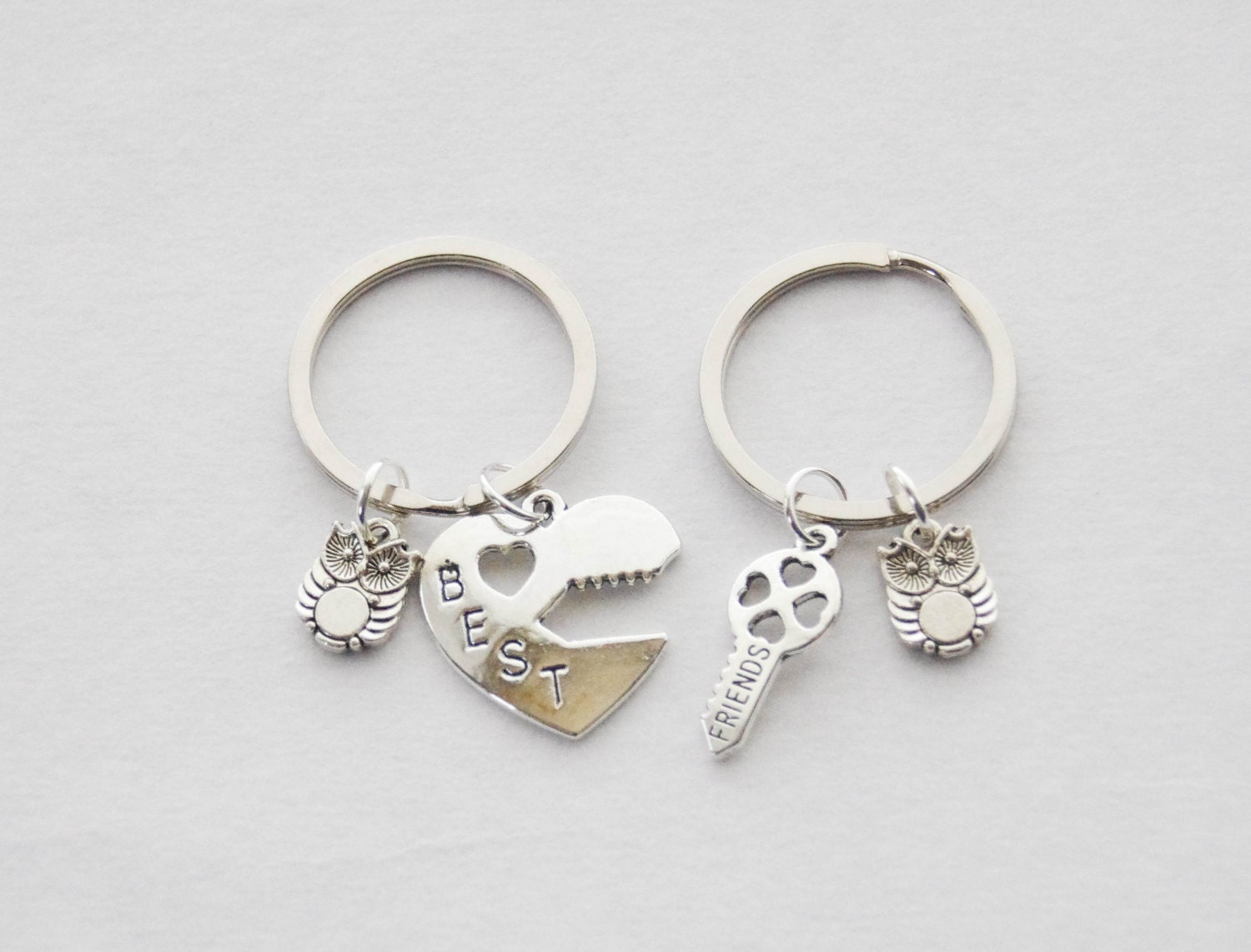 Wedding Gift, Couples Keychains, 2 Keychains, Couple Gifts, Owl ...