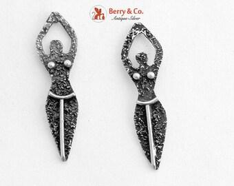 SaLe! sALe! Figural Female Body Earrings Sterling Silver