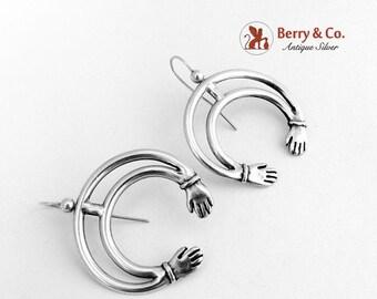 SaLe! sALe! Celtic Style Earrings Sterling Silver