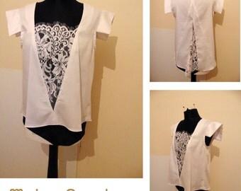 Origami Japanese style white shirt