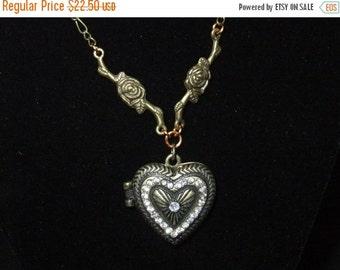 ON SALE Jeweled Heart Locket