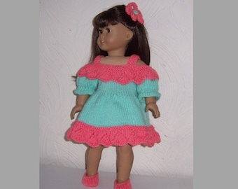 Festival Dress, to fit an average size 18 inch dolls such as American Girl, Gotz  and similar size dolls