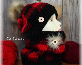 Tuque and cache neck woodcutter