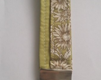 100 % cotton wristlet key fob keyring