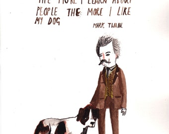 A6 Mark Twain Postcard