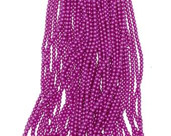 2mm Czech Glass Pearl - 24276 Hot Pink x 300pcs