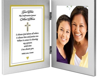 Custom Confirmation Sponsor Gift  - Personalize with Names - Add Photo After Delivery (70-070)