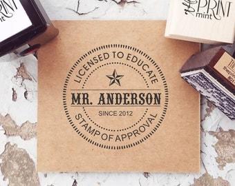 Unique Teacher Gifts - Custom Teacher Stamp- New Teacher- Teacher Appreciation- Personalized Teacher Gift-  10275