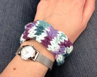 Cotton Braided Cable Bracelet Purple