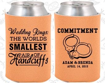Peach Wedding (C505) Can Coolers, Peach Wedding Favors, Peach Wedding Gift, Peach Party Decorations