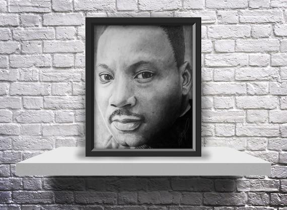 Martin Luther King Jr. Drawing - 10X8 Print