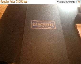 WOW 50% Off Sale Vintage 1938 Parcheesi Board, Game Board, Parcheesi Game Board