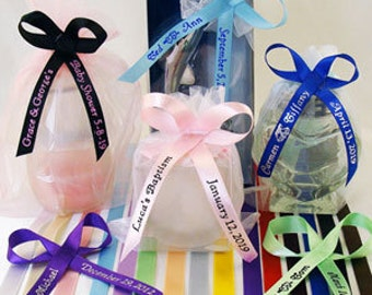 60 personalized baby shower ribbons for favors