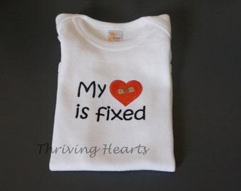 My Heart is Fixed onesie - CHD awareness