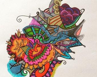 Customized Doodle Prints