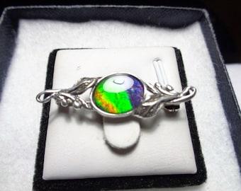 Ammolite Jewelry Brooch/Pin