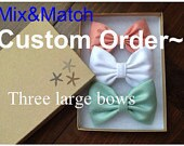 custom order of 4 large bows