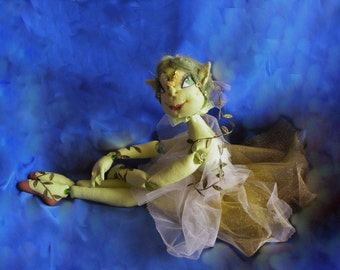 Art doll Viruka Dryad OOAK articulated doll