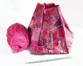 yarn bowl knitting bowl yarn keeper in hot pink colours gift for knitter crocheter
