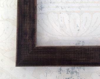 Rustic Black Picture Frame - 4x4, 4x6, 5x5, 5x7, 8x8,8x10, 8.5x11,11x14,16x20,18x24, 24x30 Custom Black Frames - Black Wood Picture Frame