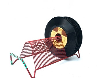 Vintage Retro 45 Record Storage Rack
