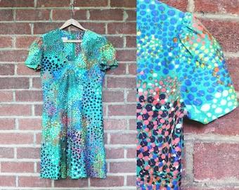 1960s Allegro Multicolor Mini Dress