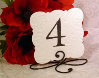 15 Black Table number holders for wedding reception decoration
