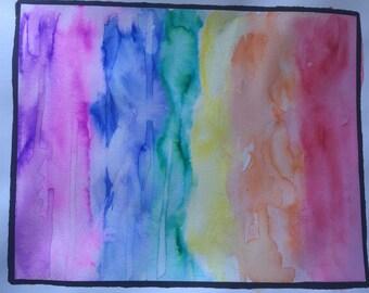 SALE Rainbow Splash Watercolor