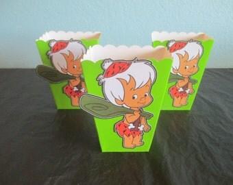 Bam Bam Popcorn boxes(20)Bam Bam favor bags,Bam Bam treat bags,Bam Bam party bags,Bam Bam goody bags,Dinosaur party bag,Flintstones,Pebbles