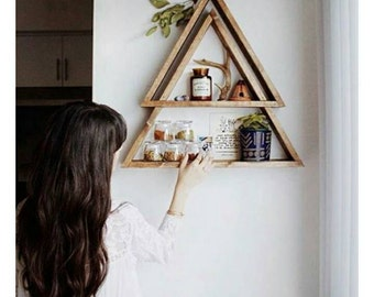 FREE SHIPPING! Stacked Triangle Shelf. Geometric Shelf. Modern Shelf. Bohemian Shelf. Triangle Shelf.