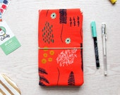 SALE 50% off - Floral Fabric Traveler Notebook Fauxdori in Midori Regular Size