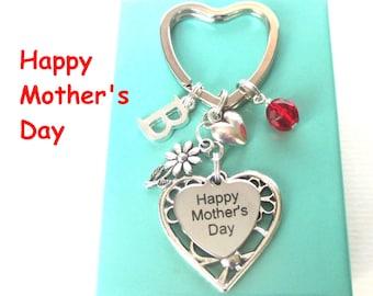 Happy Mother's Day keyring - Gift for Mum - Daisy keyring - Personalised Mother's Day gift - Mum gift - Birthstone keyring - Etsy UK