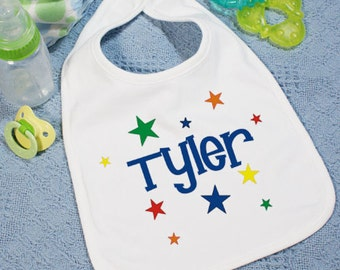 Personalized Baby is a Star bib