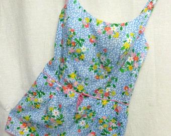 Romper Plus Size Swim Suit 1960 Swimsuit