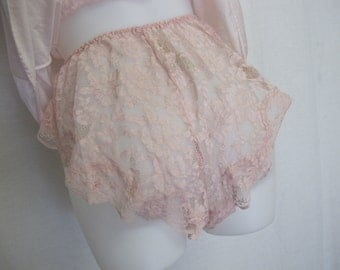 Romper Baby Doll Nightgown Romper Lace Panties Pink Baby Doll Set  Mad Men Nightgown Nylon Short Nightgown