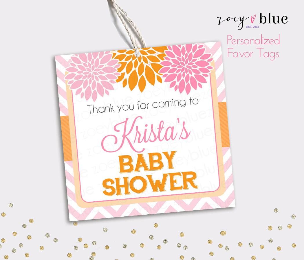 - Floral Bridal Shower Thank You Tags - Bridal Brunch Favors - Gift ...