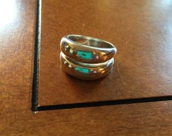 Vintage Modernist Sterling Silver Statement Ring