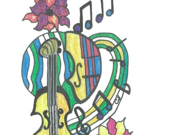 Color Me Music and More   coloring book for all ages