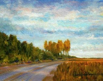 CLOUDY DAY, an original oil painting by DJ Lanzendorfer