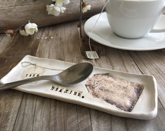 TEA TIME - Tea Bag and Spoon Rest